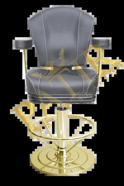 STD Chair with armrest-brass-black