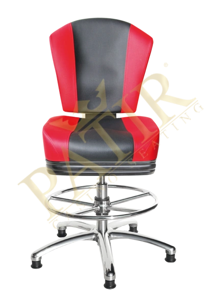 Casino Chair-red/black/red