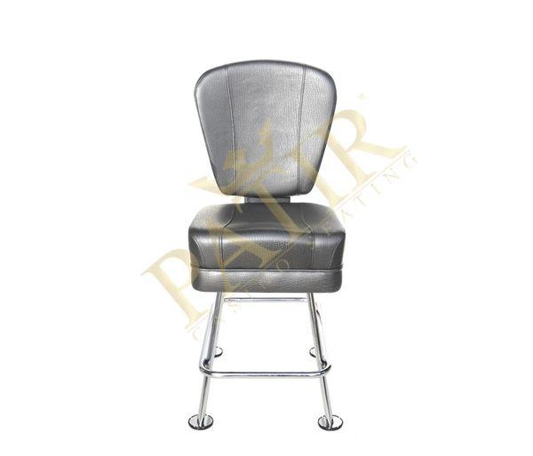Leather & chrome chair-chrome