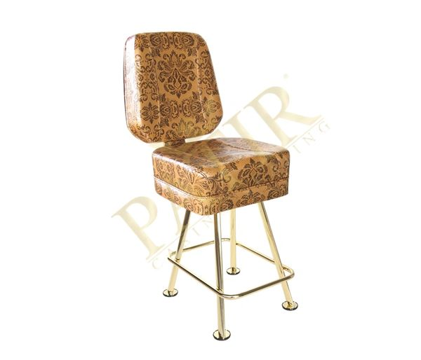 Leather & Brass Chair - Tan Design