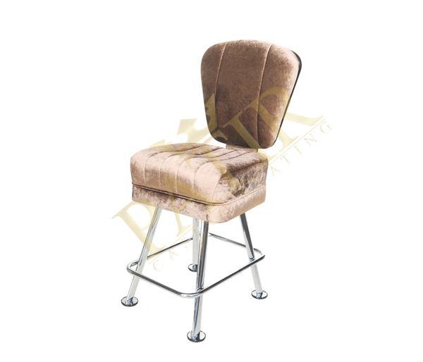 Leather & Chrome Chair - Tan