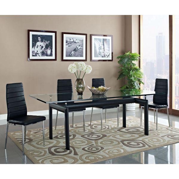 Harris Rectangular Glass Dining Table