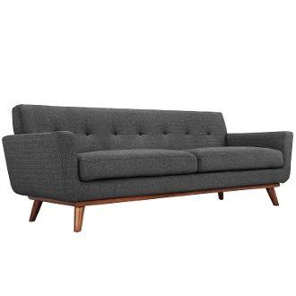 "Finn Juhl Style Sofa-Gray-90"""