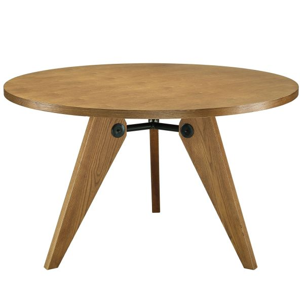 Kinsey Round Ash Wood Dining Table