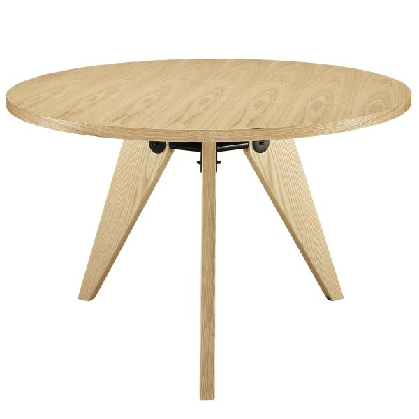 """Kinsey Round Dining Table, Light Ash Wood - 47"""""""