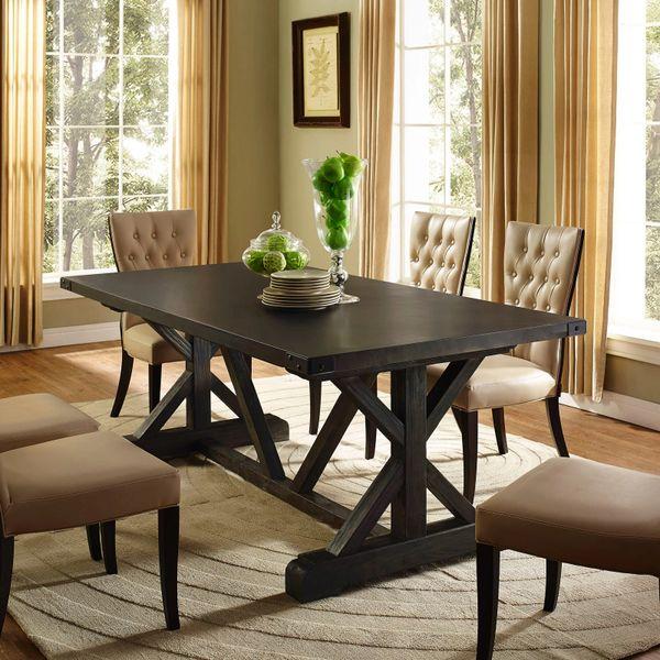 "Miller Rectangular Dining Table Wood Top & Base - 79"""