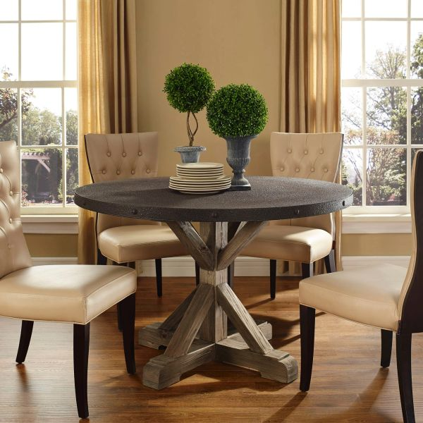 """Miller Round Dining Table W.Top & W. Base-47"""""""