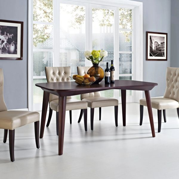 """Phillips Rectangular Wood Dining Table - Brown - 63"""""""