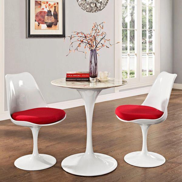 """Saarinen Style Tulip Dining Table - Marble 28"""""""