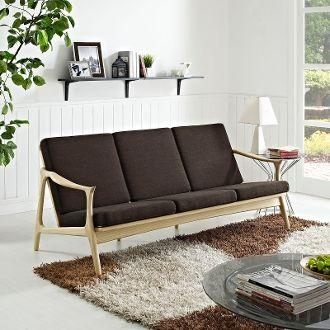 Finn Juhl Style Sofa-Natural & Chocolate
