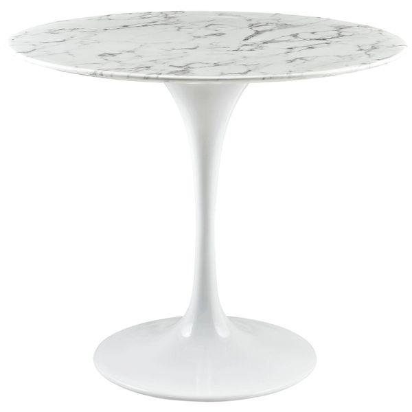 "Saarinen Style Tulip Dining Table - Sterling 36"""