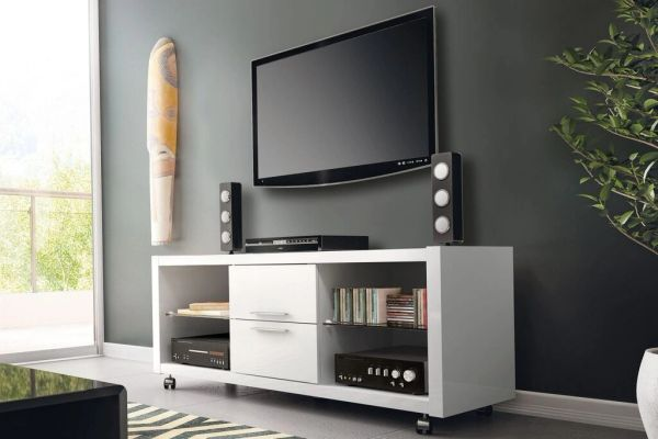 TV Stand - White Gloss - 13984 B