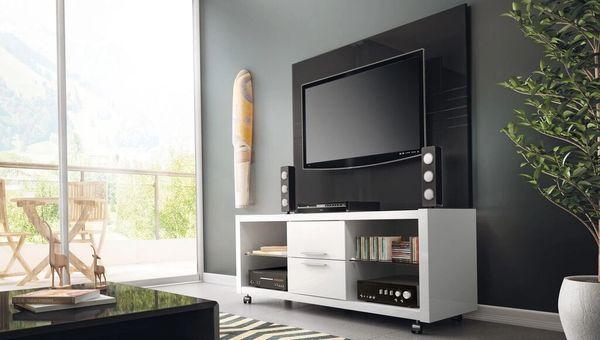 TV Stand 13984 White Gloss + Claremont 1.3 Panel