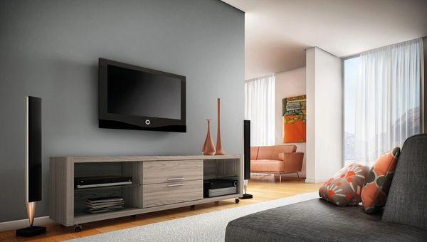 TV Stand 15223 Nature White 2