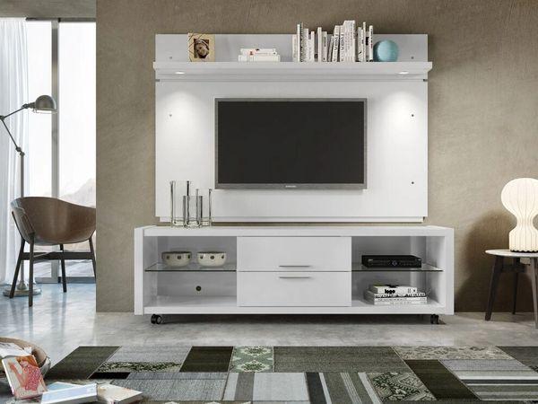 TV Stand 15284+81484 White Gloss Set