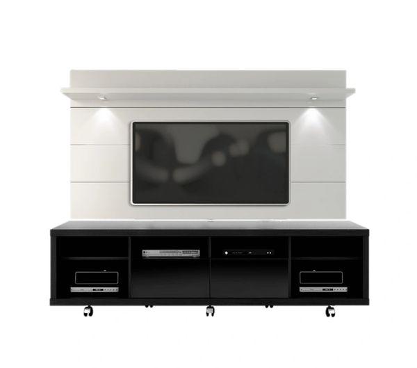 TV Stand Black + White Panel