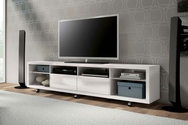 Malibu TV Stand 2.2 - White Gloss