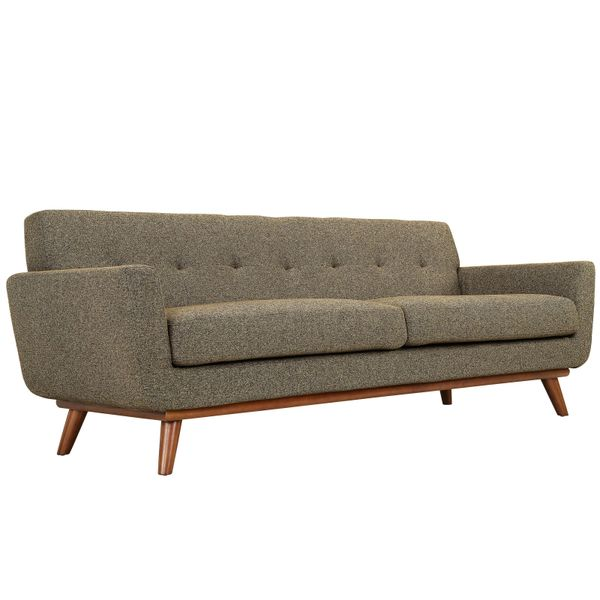 "Finn Juhl Style Sofa-Oatmeal-90"""