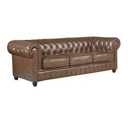 Petrocelli Genuine Leather Sofa - Brown