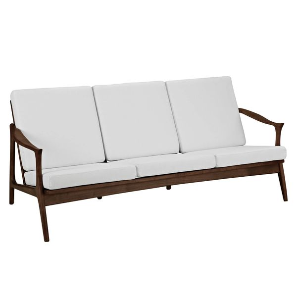 Finn Juhl Style Sofa-Walnut & White