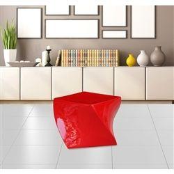 Elly Fiberglass Ottoman - Red