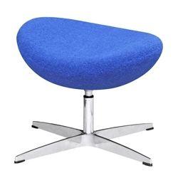 Arne Jacobsen Style Wool Ottoman - Blue