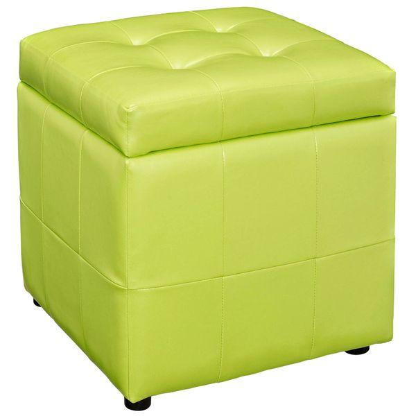 Cindy Storage Ottoman - Light Green
