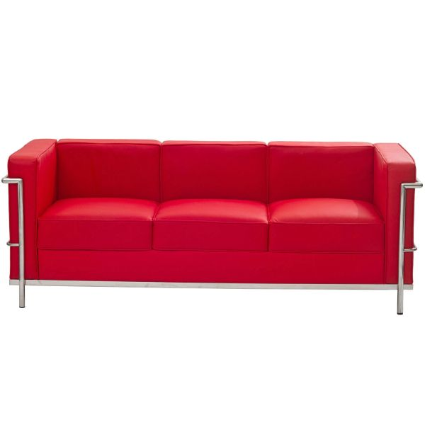 Laura Leather Sofa-Red