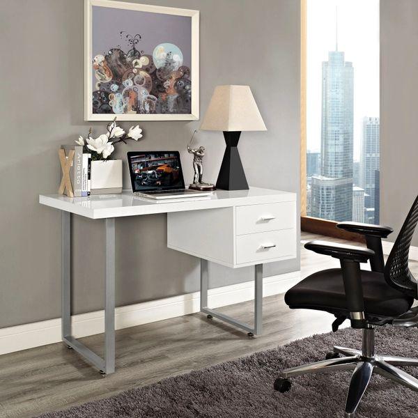 Beaver Office Desk - White