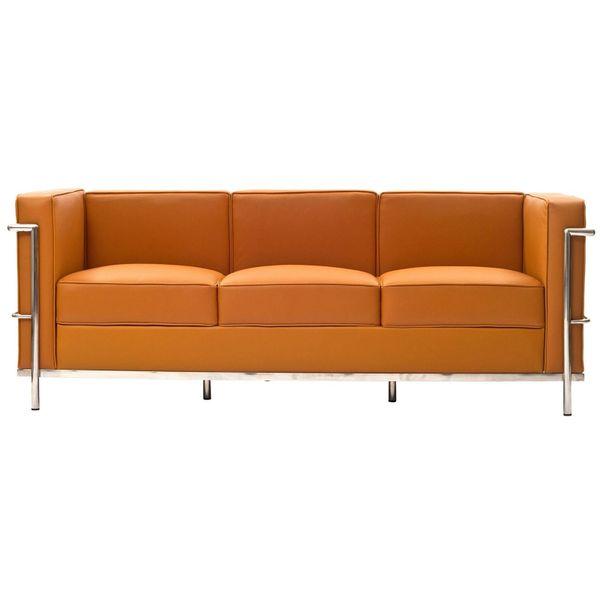 Laura Leather Sofa-Tan