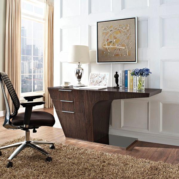 Wally Office Desk - Walnut