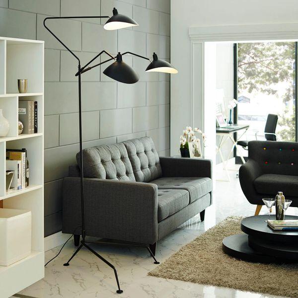 Triple Stainless Steel Floor Lamp