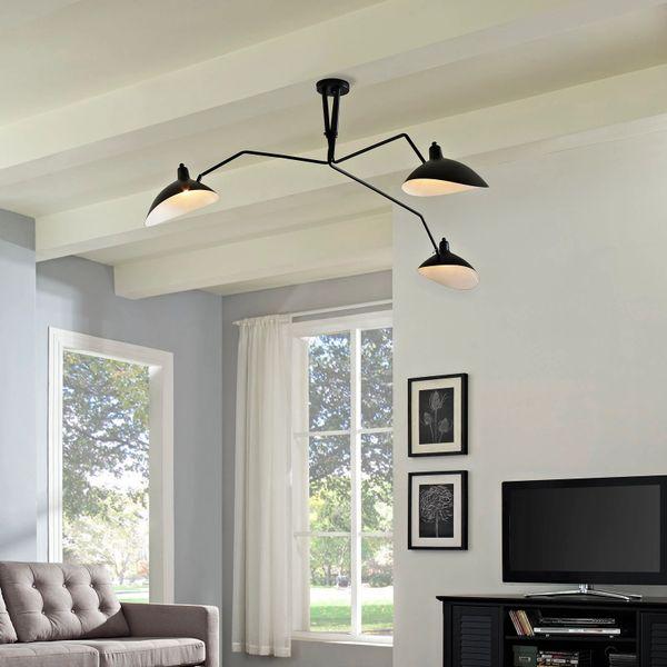 Triple Stainless Steel Ceiling Lamp