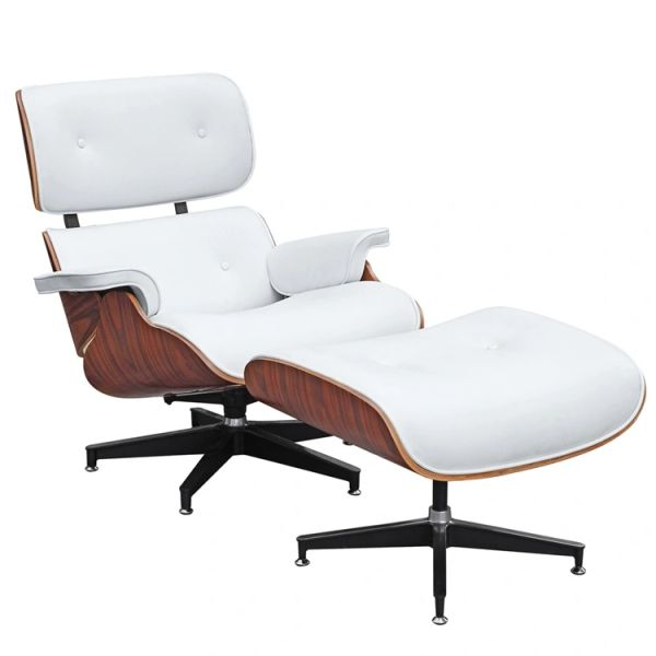 Eames Style Lounge Chair - White