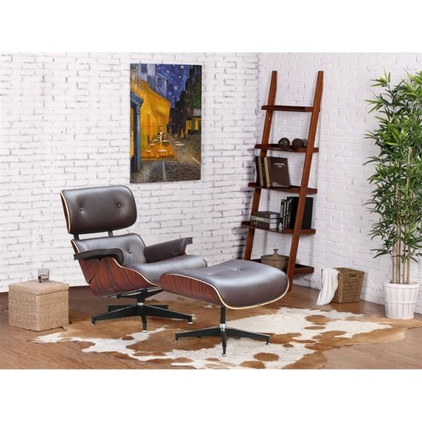 Eames Style Lounge Chair - Brown