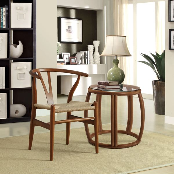 Hans Wegner Style Wishbone Chair - Walnut