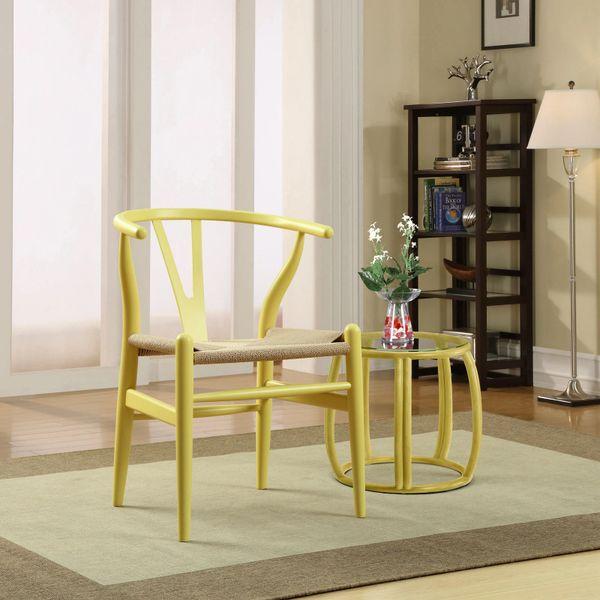 Hans Wegner Style Wishbone Chair - Yellow