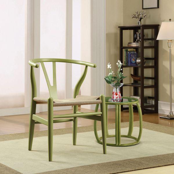 Hans Wegner Style Wishbone Chair - Green