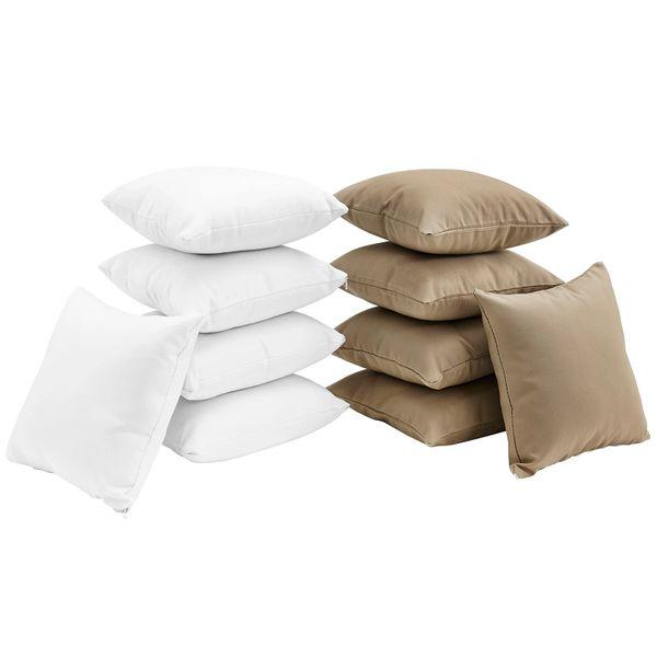 T1D Ten Piece Outdoor Pillow Set - White/Mocha