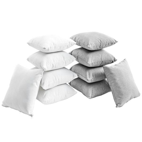 T1D Ten Piece Outdoor Pillow Set - White/Gray