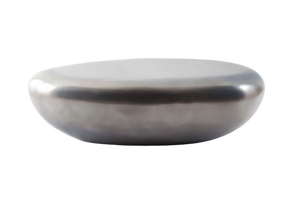 Nehir Stone Coffee Table Polish Aluminum, LG