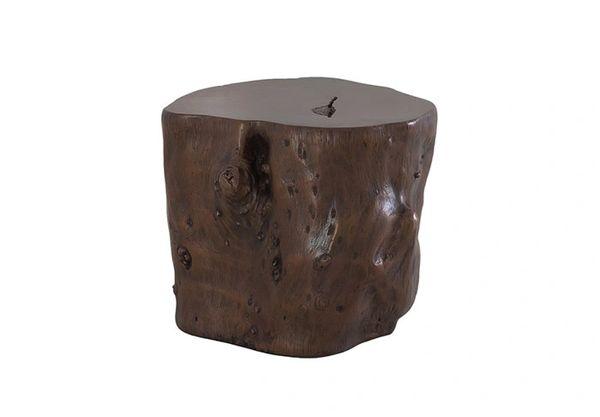 T1D Log Stool Bronze, LG