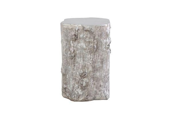 T1D Log Stool Silver Leaf, MD