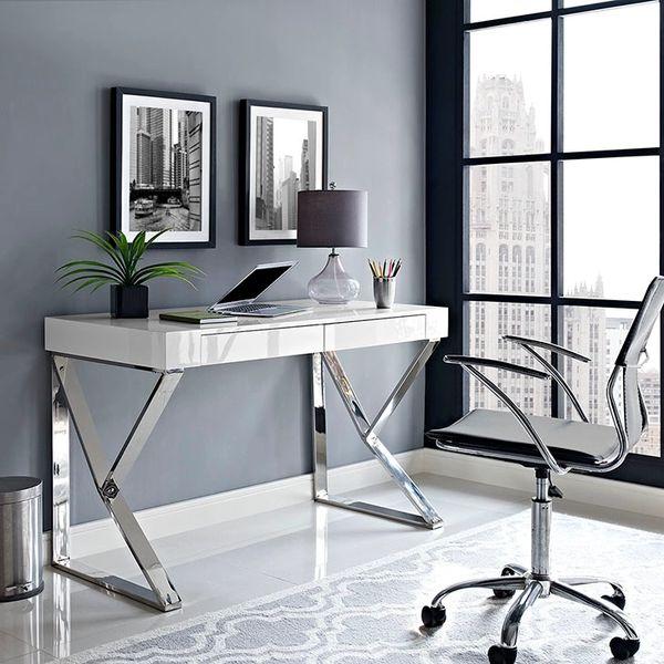"""Adjacent Desk-White-47"""""""
