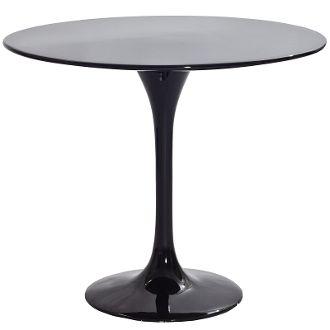 "Saarinen Style Fiberglass Side Table-Black-23"""