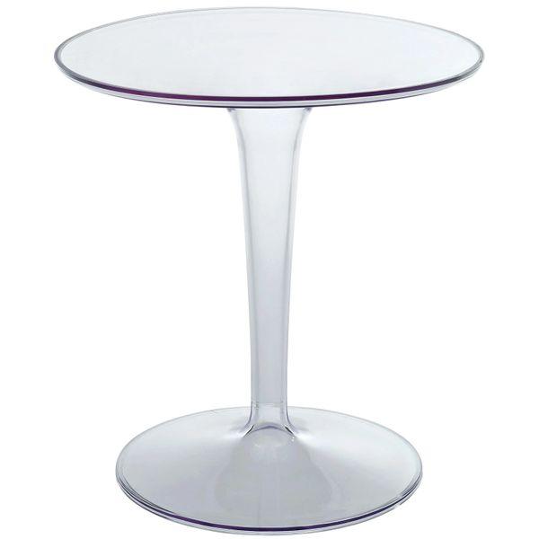 Saarinen Style Glass Round Side Table-23