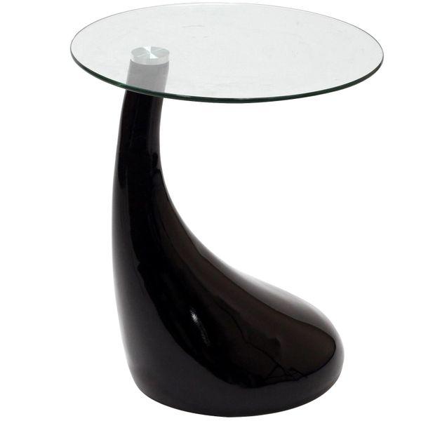 """Jan Tear Drop Side Table - Black-20"""""""