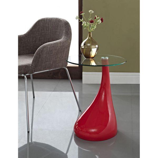 Jan Tear Drop Side Table - Red-20