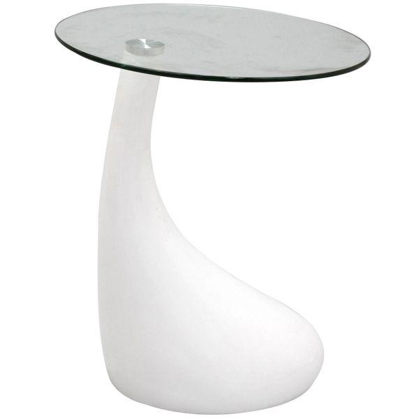 Jan Tear Drop Side Table - White-20