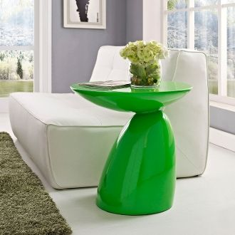 "John Steed Fiberglass Side Table-Green-23"""